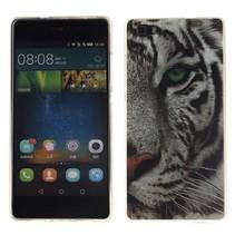 Witte tijger TPU hoesje Huawei P8 Lite