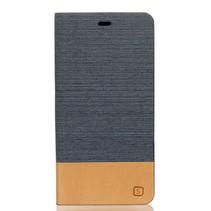 Donkergrijs Slim Bookcase Hoesje Huawei P9 Lite