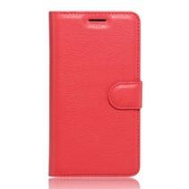 Rood Litchi Bookcase Hoesje Huawei Y3II
