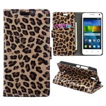 Luipaard Bookcase hoes Huawei Y360