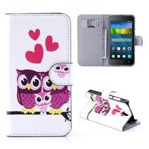 Uil Familie Bookcase Hoesje Huawei Y5