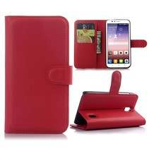 Rood Litchi Bookcase Hoesje Huawei Y625