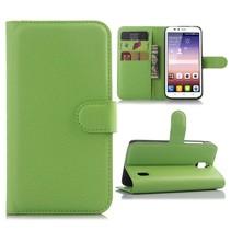 Groene lychee Bookcase hoes Huawei Y625