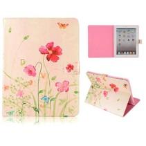 Elegante bloem flipcover hoes iPad 2 / 3 / 4