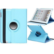 Lychee lichtblauwe 360 graden hoes iPad 2 / 3 / 4