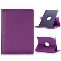 Paars 360 graden lychee draaibare hoes iPad Air 2