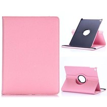 Roze 360 graden lychee draaibare hoes iPad Air 2