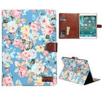 Bloemendesign hoes blauw iPad Air
