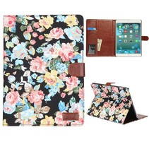 Bloemendesign hoes zwart iPad Air