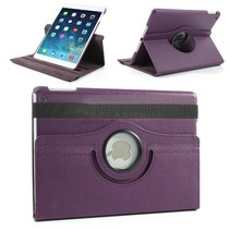 360 graden paars faux lederen hoes iPad Air
