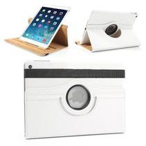 360 graden wit faux lederen hoes iPad Air