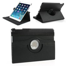 360 graden zwart faux lederen hoes iPad Air