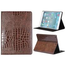 Bruin krokodillenleer cover hoes iPad Air