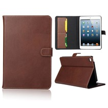 Bruin gladde flipstand hoes iPad Mini 4