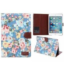 Blauw bloemendesign flipstand hoes iPad Mini 4