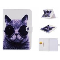 Kat met Zonnebril Flipstand Hoes iPad Pro 9.7