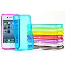 Glossy transparant TPU hoesje iPhone 4 / 4s