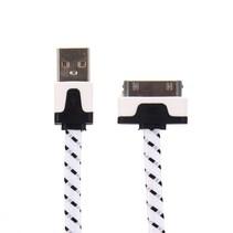 30 Pins Gevlochten Nylon Kabel - 100 cm - Wit