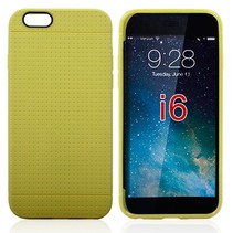 Geel mesh TPU hoesje iPhone 6 / 6s