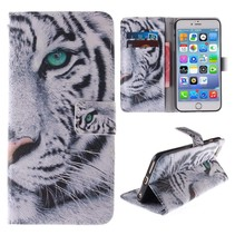 Witte tijger Bookcase hoes iPhone 6 / 6s
