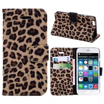 Luipaard design Bookcase hoes iPhone 6 / 6s