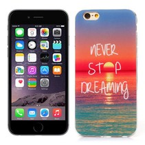 Never stop dreaming TPU hoesje iPhone 6 / 6s