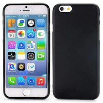 Zwart effen TPU hoesje iPhone 6 / 6s