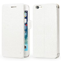 Silk series witte Bookcase hoes iPhone 6 / 6s