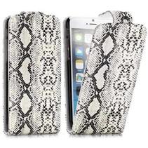 Slangen witte Flip Case hoes iPhone 6 / 6s