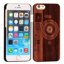 Camera design houten hoesje iPhone 6 / 6s