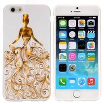 Gouden elegante dame TPU hoesje iPhone 6 / 6s