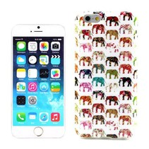 Kleurrijke olifantjes TPU hoesje iPhone 6 / 6s