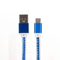 Universele Micro USB Kabel 100 cm - Blauw