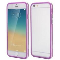 Paars / transparante bumper iPhone 6(s) Plus