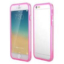 Donkerroze / transparante bumper iPhone 6(s) Plus