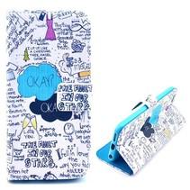 Graffiti Bookcase hoes iPhone 6(s) Plus