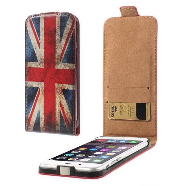 Britse vlag Flip Case hoes iPhone 6(s) Plus