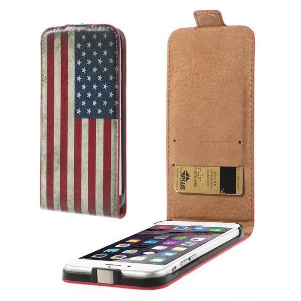 Amerikaanse vlag Flip Case hoes iPhone 6(s) Plus