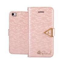 Eternal roze Bookcase hoes iPhone 6(s) Plus