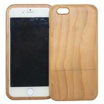 Lichtbruin houten hoesje iPhone 6(s) Plus