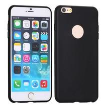 Zwart logo-opening siliconen hoes iPhone 6(s) Plus