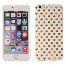 Gouden hartjes TPU hoesje iPhone 6(s) Plus
