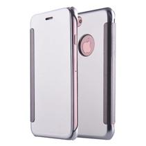 Zilverkleurig Mirror Bookcase Hoesje iPhone 7