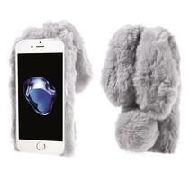 Grijs Pluizig TPU Hoesje iPhone 7