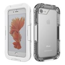 Wit / Transparant Waterdicht Hoesje iPhone 7