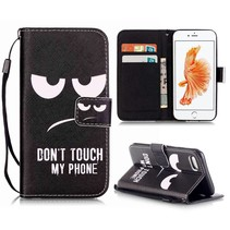 Don't Touch My Phone Bookcase Hoesje iPhone 7