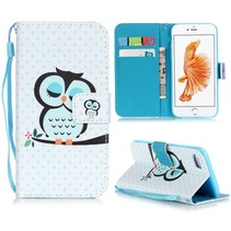 Slapende Uil Bookcase Hoesje iPhone 7