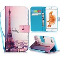 Eiffeltoren Bookcase Hoesje iPhone 7