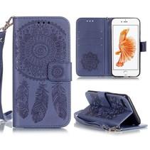 Dromenvanger Blauw Bookcase Hoesje iPhone 7