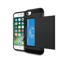 Zwart Pasjeshouder Hybrid Hoesje iPhone 7